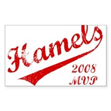 Hamels 2008 MVP Rectangle Sticker 10 pk)