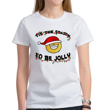 Jolly Christmas Santa Smiley Women's T-Shirt