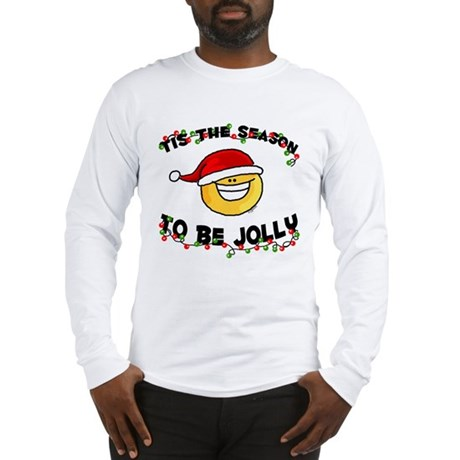 Jolly Christmas Santa Smiley Long Sleeve T-Shirt
