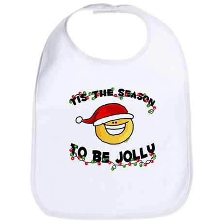 Jolly Christmas Santa Smiley Bib