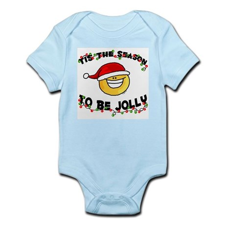 Jolly Christmas Santa Smiley Infant Creeper