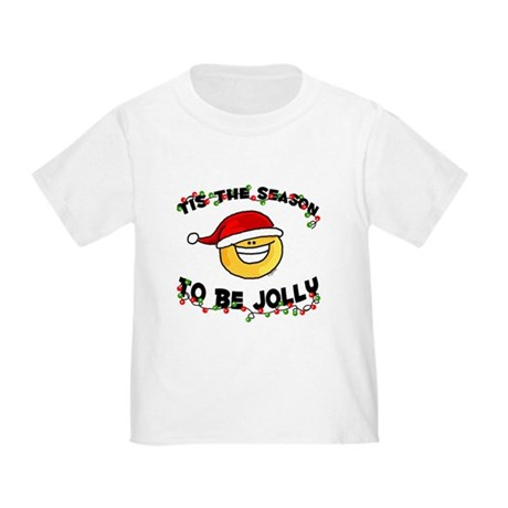 Jolly Christmas Santa Smiley Toddler T-Shir