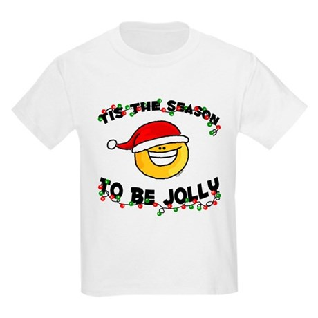 Jolly Christmas Santa Smiley Kids T-Shirt