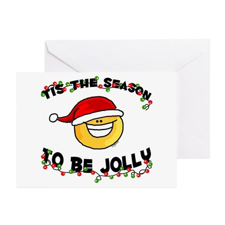 Jolly Christmas Santa Smiley Greeting Cards (Packa