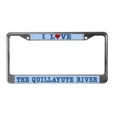 I Love The Quillayute River License Plate Frame