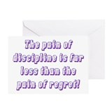 Discipline Greeting Card
