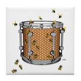 Drum Bees Tile Coaster