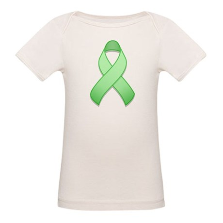 Light Green Awareness Ribbon Organic Baby T-Shirt