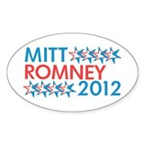 Mitt Romney 2012 Oval Sticker (10 pk)