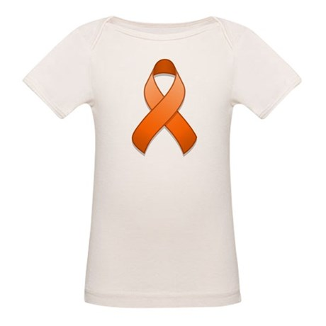 Orange Awareness Ribbon Organic Baby T-Shirt