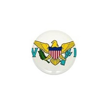 Cute U.s. virgin islands country Mini Button
