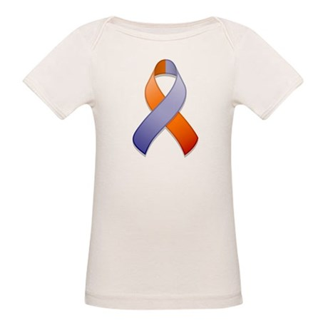 Orchid and Orange Awareness Ribbon Organic Baby T-
