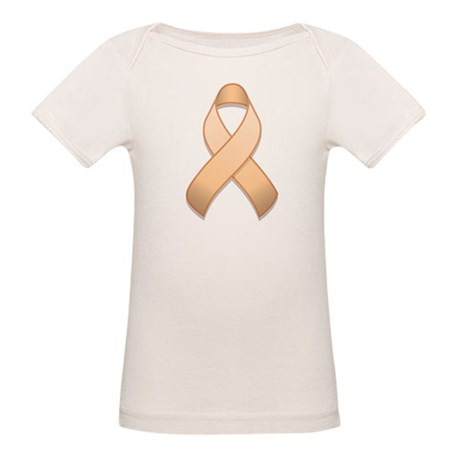 Peach Awareness Ribbon Organic Baby T-Shirt