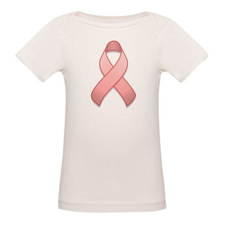 Pink Awareness Ribbon Organic Baby T-Shirt