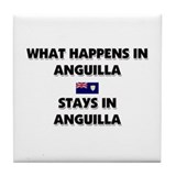 What Happens In ANGUILLA Stays There Tile Coaster