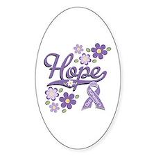 Hope Alzheimer's Oval Decal