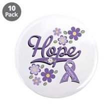 "Hope Alzheimer's 3.5"" Button (10 pack)"