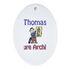 Thomas - Future Architect Oval Ornament