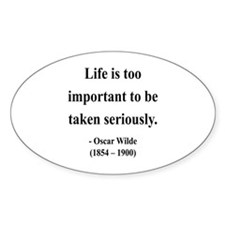 Oscar Wilde 17 Oval Decal