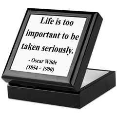 Oscar Wilde 17 Keepsake Box