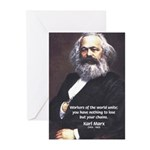 Union of Workers: Marx Greeting Cards (Package of