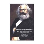 Union of Workers: Marx Mini Poster Print