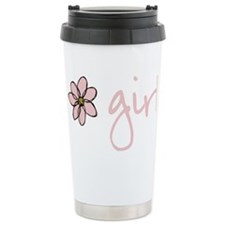 Flower Girl - Pink Ceramic Travel Mug