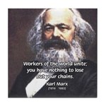Union of Workers: Marx Tile Coaster