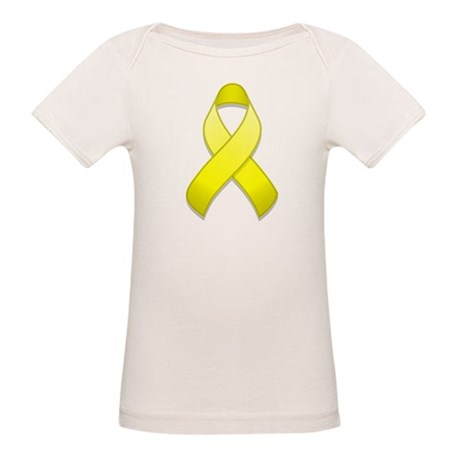 Yellow Awareness Ribbon Organic Baby T-Shirt