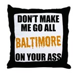 Baltimore Baseball Throw Pillow
