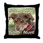 Adopt A Dog! Throw Pillow