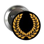 Black with Gold laurel Button