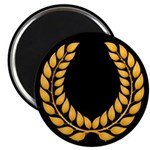 Black with Gold laurel Magnet
