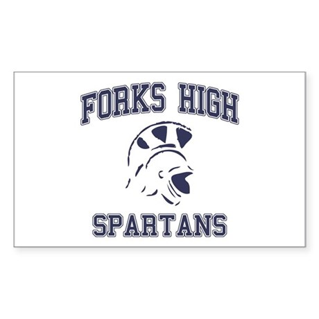 Forks High Spartans Rectangle Sticker