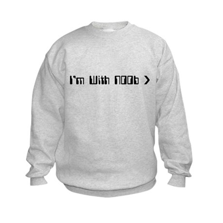 I'm With Noob Kids Sweatshirt