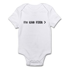 I'm With Noob Infant Bodysuit