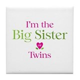 Big Sister of Twins Tile Coaster
