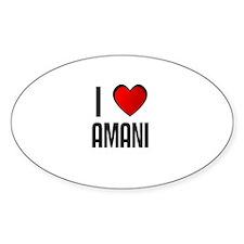 I LOVE AMANI Oval Decal