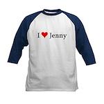 I Love Jenny Kids Baseball Jersey