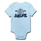 Secretary Need Drink Onesie