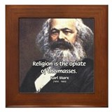 Karl Marx Religion Opiate Masses Framed Tile