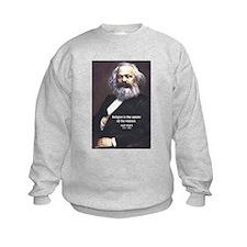 Karl Marx Religion Opiate Masses Kids Sweatshirt
