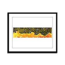 Brook Trout Skin Framed Panel Print