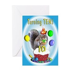 Boy 10th Birthday Greeting Card