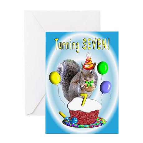 Boy 7th Birthday Greeting Card
