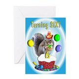 Boy 6th Birthday Greeting Card
