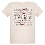 Twilight Hearts Collage Organic Kids T-Shirt