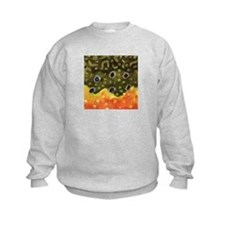 Brook Trout Fly Fishing Kids Sweatshirt