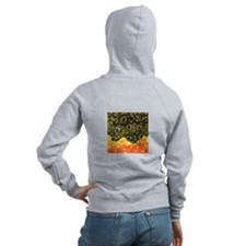 Brook Trout Fly Fishing Zip Hoodie