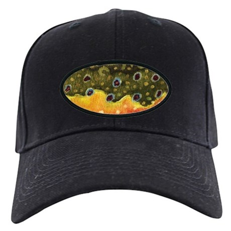 Brook trout fly fishing baseball hat by troutwhiskers for Fishing baseball caps